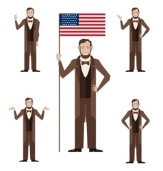 Set of Lincoln icons vector image vector image