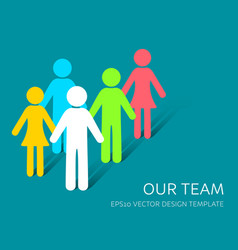 Simple our team icon company vector