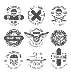 Skateboarding Black Emblems vector image