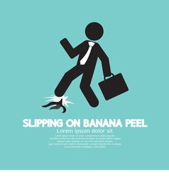 Slipping on banana peel vector