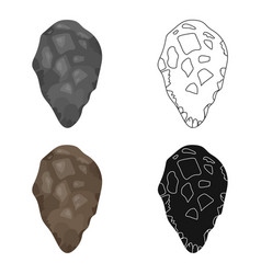 Stone tool icon in cartoon style isolated on white vector