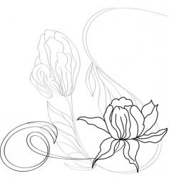 vintage flowers vector image