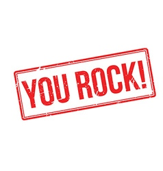 You rock red rubber stamp on white vector