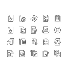Line report icons vector