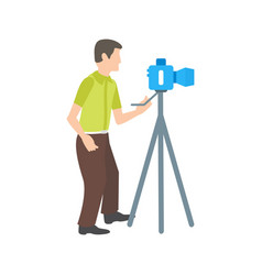 Photographing vector