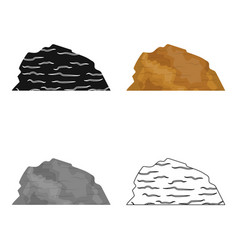 Sandy ceremony in wild west mountains of sand vector