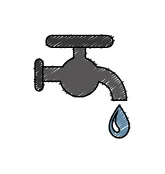 Water faucet icon vector