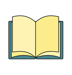 book icon isolated on a white background vector image