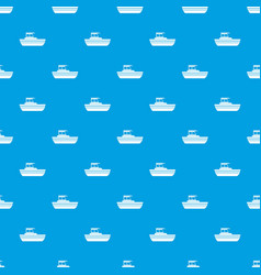 Motor boat pattern seamless blue vector
