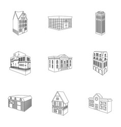 Municipality building bank office building vector