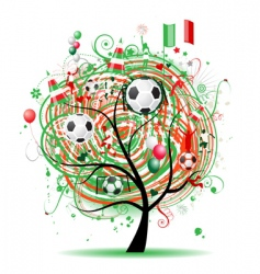 football tree design Mexican flag vector image