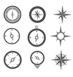 Navigation compasses vector