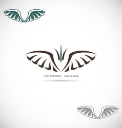 Label with wings vector