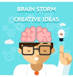 Brain storm creative idea concept vector