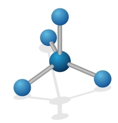 Molecule of carbon vector