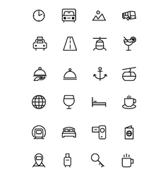 Travel line icons 2 vector
