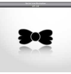 Bow tie web flat icon vector