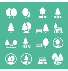 Park icons set vector