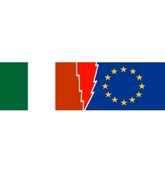 Politic relationship european union and italy vector
