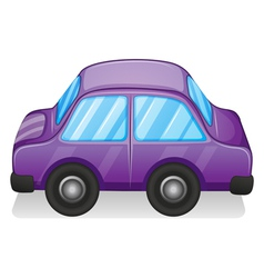 A violet toy car vector image