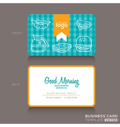 Bakery shop or cafe business card vector