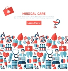 Brochure and business cards for the medical vector