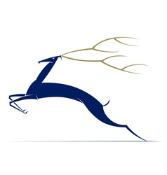 cartoon antelope deer vector image vector image