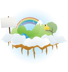 cloud land vector image