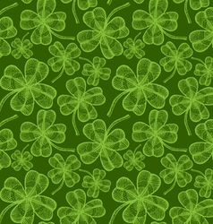 clover pattern vintage green vector image vector image