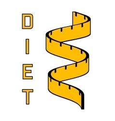 Diet - a symbol of a of a measuring tape Modern vector image
