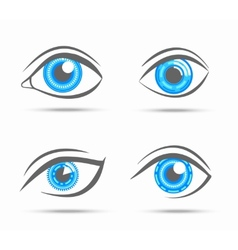 Eyes icons cyber vector image