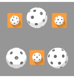 Flat floorball ball for logo the team and the cup vector