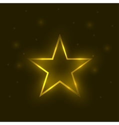 Golden magic star vector image
