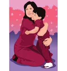 hug vector image vector image