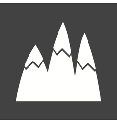 Ice Top Mountain vector image