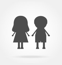 icon boy and girl vector image
