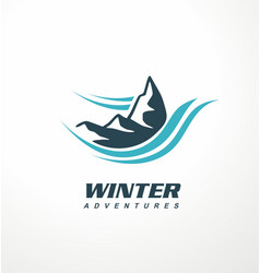 mountain logo design idea vector image vector image