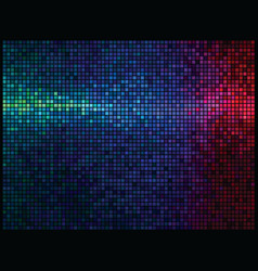 multicolor abstract lights disco background square vector image
