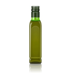 Olive oil bottle template vector