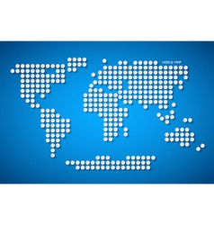 Paper Dotted World Map on Blue Background vector image vector image