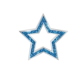 Pendant Star in the frame vector image vector image