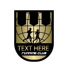 running club emblem vector image