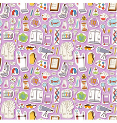 science seamless pattern vector image