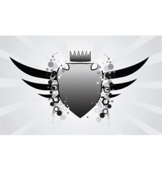 shield and crest vector image
