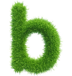 Small grass letter b on white background vector