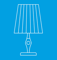 Vintage table lamp icon outline style vector