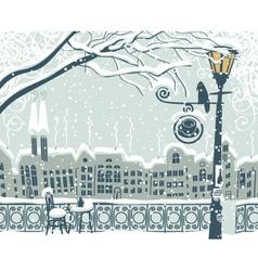 Winter cityscape vector image vector image