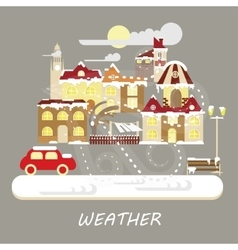 Winter snowstorm weather vector