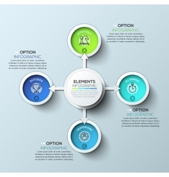 Arrow circle infographics template vector