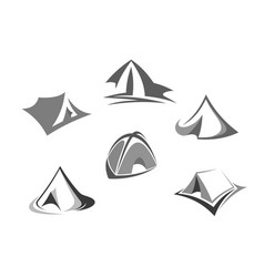 travel tent icon for tourism and camping design vector image
